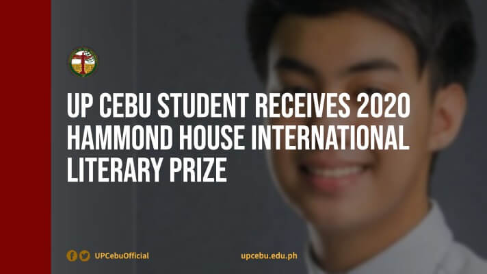 UP Cebu student receives 2020 Hammond House International Literary Prize